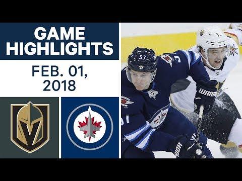 Video: NHL Game Highlights | Golden Knights vs. Jets – Feb. 1, 2018