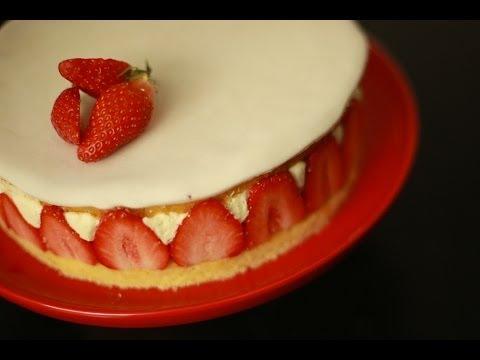 Cuisine - La fiche recette complète avec ingrédients et étapes est ici : http://goo.gl/1rjYK4 En cette saison, le fraisier, c'est un peu le