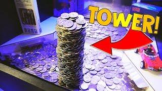 Video Coin Pusher || WINNING HUGE TOWER OF QUARTERS! MP3, 3GP, MP4, WEBM, AVI, FLV Agustus 2018