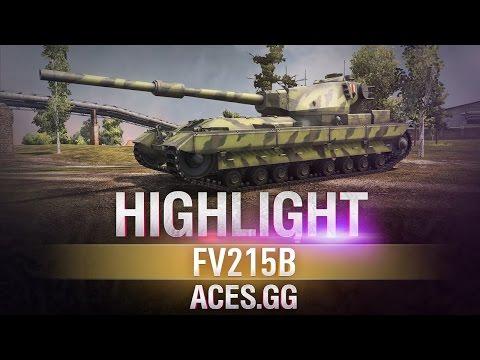 Гроза Харькова! FV215B в World of Tanks!