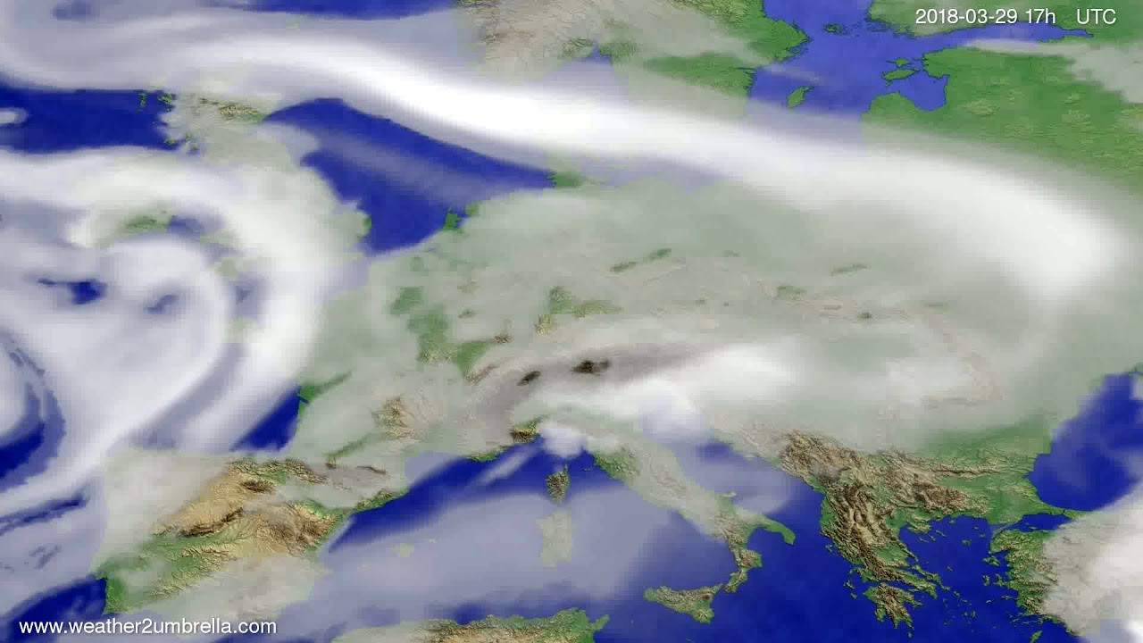 Cloud forecast Europe 2018-03-27
