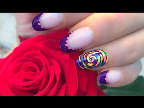 nail art - spirale di colori!
