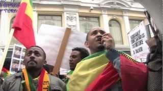 Ethiopians Demonstration October 18,2012 Oslo Norway