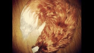 Yarn Tail: Realistic Red Fox Tail - YouTube