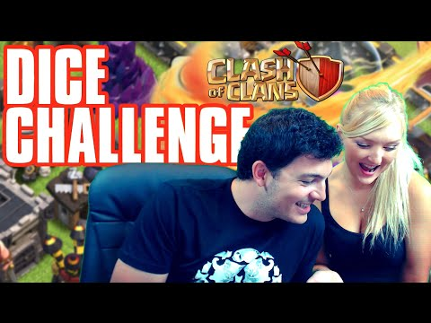 EPIC WIZARD WIN! Clash of Clans Dice Challenge vs My Girlfriend!