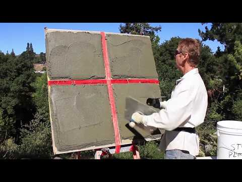 Stucco Guru Shows Sample of Stucco Surfaces