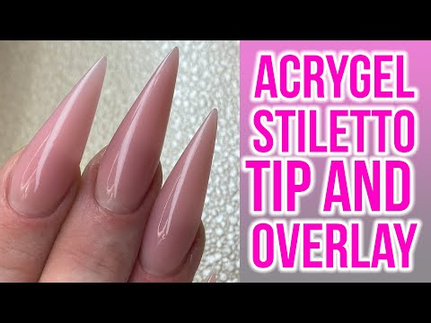 Acrygel Overlay using Stiletto Tips - Full Look!
