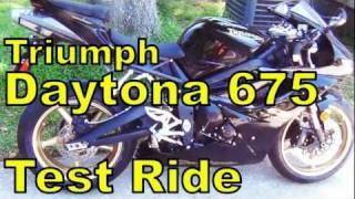 7. 2011 Triumph Daytona 675 Test Ride