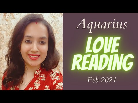 💖Aquarius (Kumbh) Love Tarot Reading💖   Feb 2021   कुम्भ राशि लव लाइफ़   Love Life Predictions