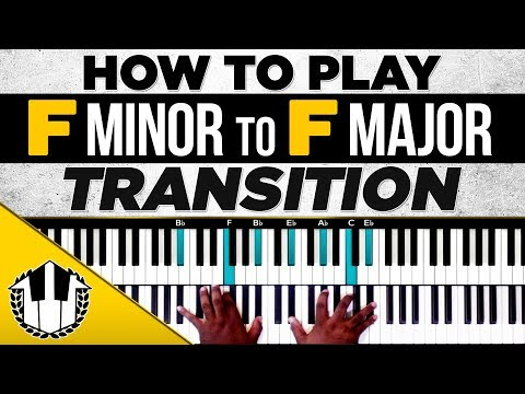 "How To Play ""F Minor To F Major Transition"" Piano Chords"