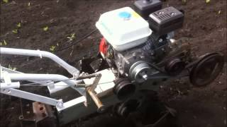 мотоблок Урал с китайским двигателем,культивирует сам
