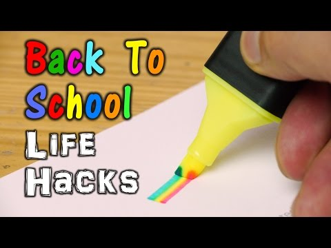 Back To School Life Hacks!