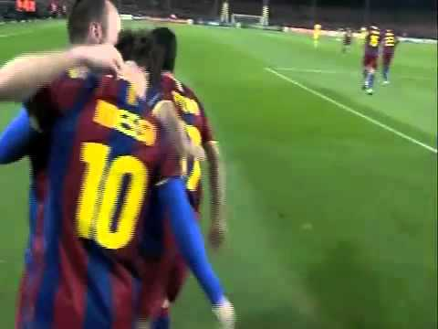messi goal all'arsenal con sombrero - champions 2010/2011