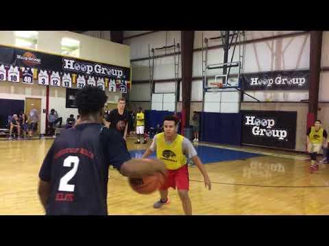 WrightWay Skills PG Noah Kamba at the Hoop Group Showcase