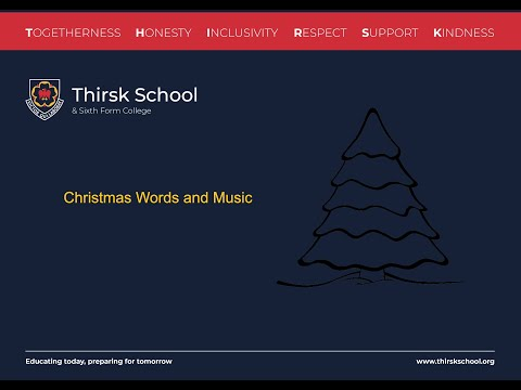 Thirsk School Christmas Words and Music 2020