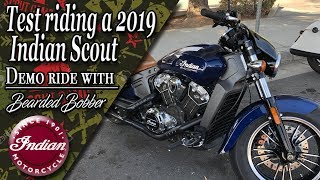 9. Demo riding the 2019 Indian Scout with the Bearded Bobber