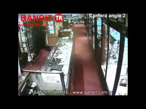 Bandit Güvenlik Sistemleri - Kuyumcuya Hırsızlık Girişimi