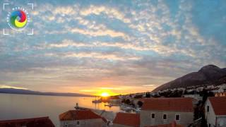 Bol island Brac, Croatia sunset time lapse 27.10.2015.