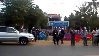 Khmernewstime - CPP Come and Back around CNRP Office at Prey Veng on January 26