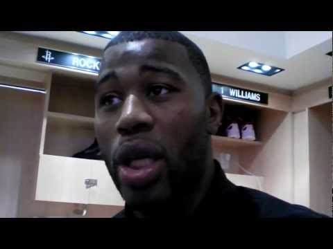 Terrence Williams on returning to action for Rockets