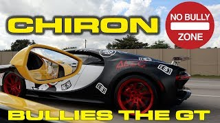 Bugatti Chiron bullies the Ford GT and 5 Great new GT Application Videos by DragTimes