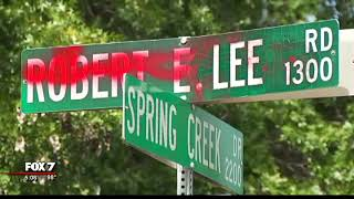 Video Street names in Austin associated with Confederacy vandalized | 8/2017 MP3, 3GP, MP4, WEBM, AVI, FLV Agustus 2017