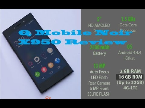 Qmobile Noir X950 Review|Qmobile First 64 Bit Octa Core Processor  With 2Gb Ram. It's Really Fast