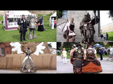 Steampunk 2015 amazing festival costumes Lincoln with Alice's Night Circus, weekend at the asylum