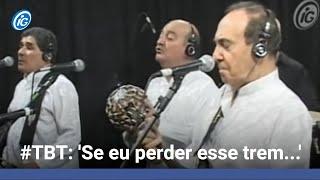 """Grupo Demônios da Garoa canta """"Trem das onze"""" no programa Canja do iG."""