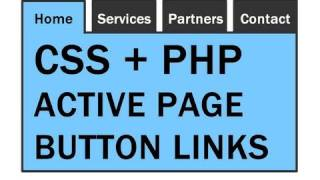 Active Page Links Tutorial For Your Website Menu : CSS PHP Dreamweaver