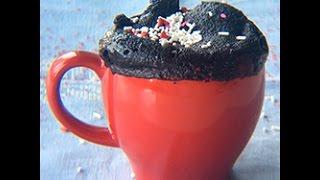 Pastel lava de chocolate en microondas