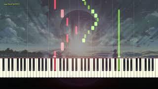Музыка из аниме - Joe Hisaishi (релакс)(Ноты и Видеоурок для фортепиано) (piano cover)