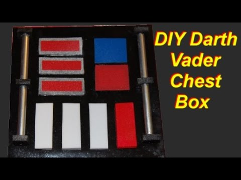 How to  Make a Darth Vader Costume Part 1: Easy Light-up Chest Box