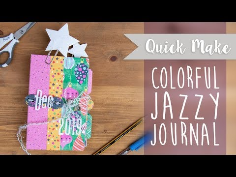 Colorful Christmas Journal  - Sizzix