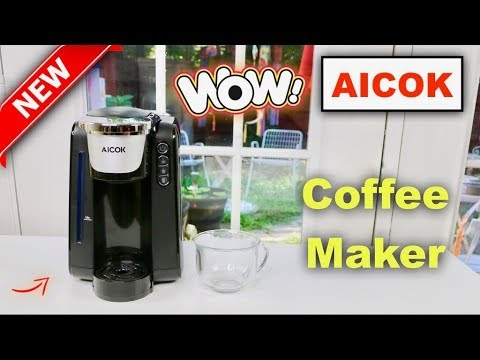 😍   AICOK Single Serve Coffee Maker - Review    ✅
