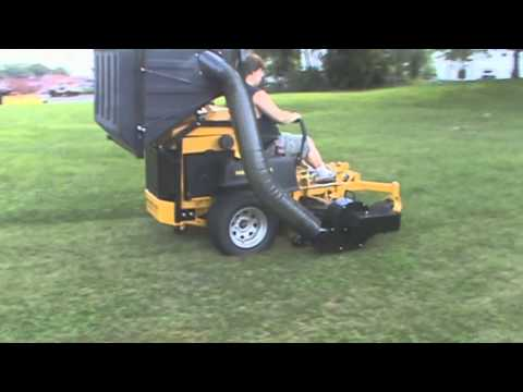 Hustler Super Z Diesel with PV 18 Lawn Vacuum, Leaf Vacuum, Grass Catcher