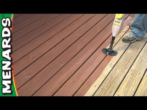 Refinish A Deck - How To - Menards