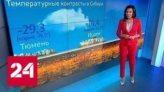 """""""Погода 24"""": аномальные морозы в Сибири и на Урале"""