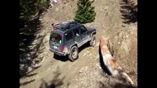 This is a video of a 1998 jeep Cherokee with. 4.5 inch rough country lift and a stock 2014 rubicon going over the pipe on the Naches trail in Greenwater washington. The first jeep is an open diff while the rubicon was locked front and rear. There's such a big difference in ability when you out these two rigs against each other. Lockers are definitely going into my jeep some time soon!