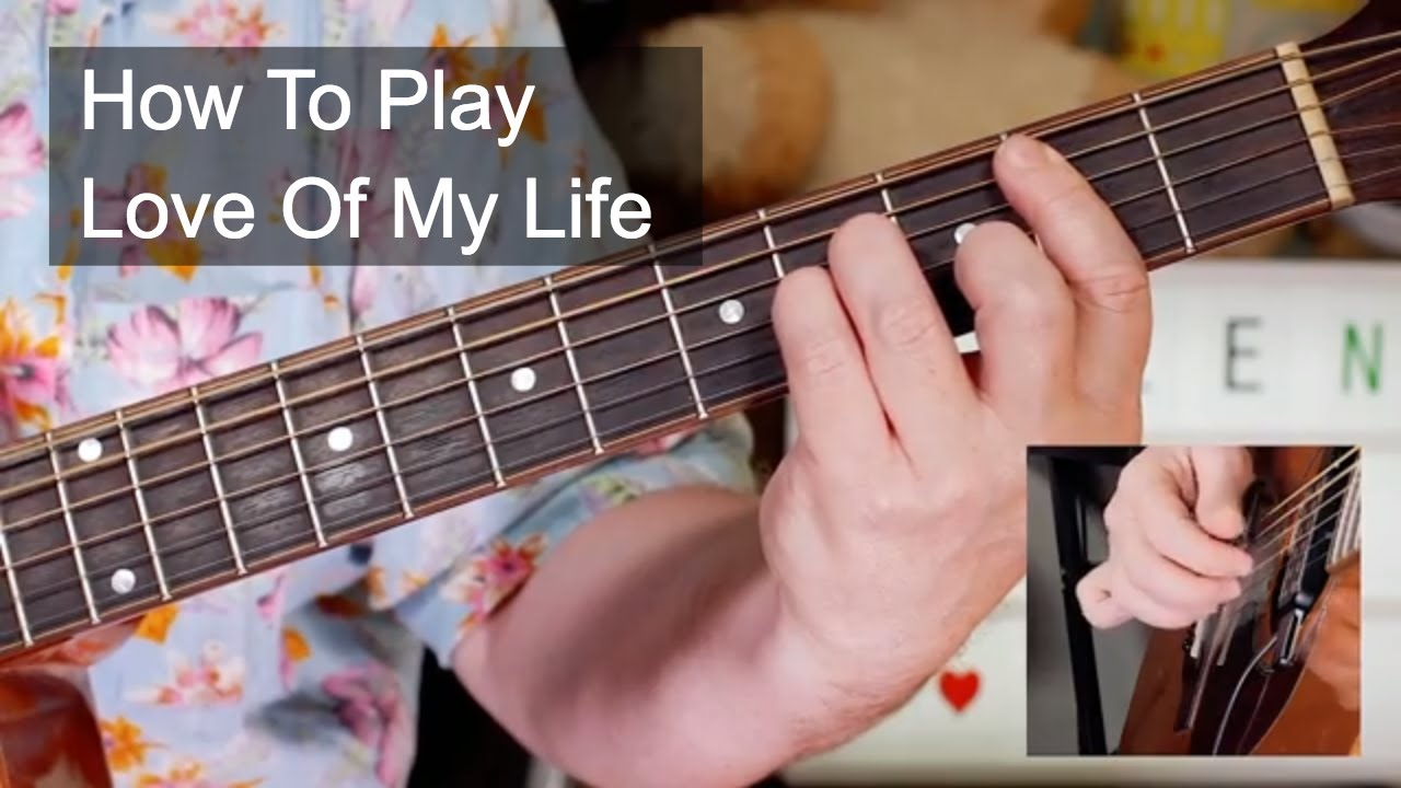 'Love Of My Life' Queen Acoustic Guitar Lesson