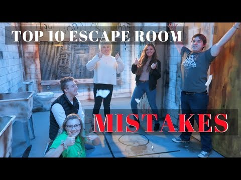 TOP 10 MISTAKES PLAYERS MAKE IN AN ESCAPE ROOM