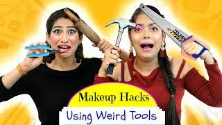 Video Most FUNNY Makeup HACKS using WEIRD Tools - ऐसा Challenge कभी ना देखा होगा | Anaysa MP3, 3GP, MP4, WEBM, AVI, FLV Desember 2018