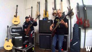 Warwick Australia  city photos gallery : Andy Irvine & Roger Mclachlan Slap Bass at Warwick Australia HQ