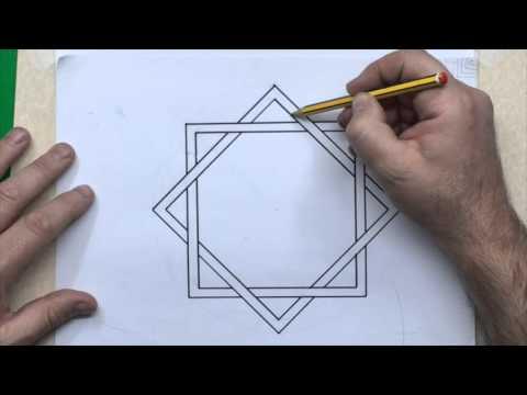 GEOMETRIE FACILE: L´ étoile à 8 branches, modèle nº 1.
