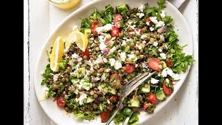 Cooking lentils in a flavoured liquid makes all the difference to making a Lentil salad that is Can't-Stop-Eating-It delish! Also see recipe for how to use canned lentils. http://www.recipetineats.com/lentil-salad/