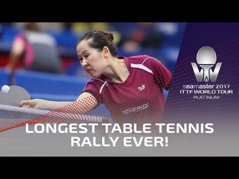桌球女選手「一球打了10分13秒」創下歷史最長紀錄,但最後的「結束方式」讓觀眾都忍不住看呆了!