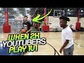 2K YOUTUBERS PLAY IRL BASKETBALL!! GONE WRONG!! ( FIRST 99 OVERALL GEESICE, n MORE )