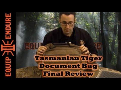 Tasmanian Tiger Document Bag - Final Review by Equip 2 Endure