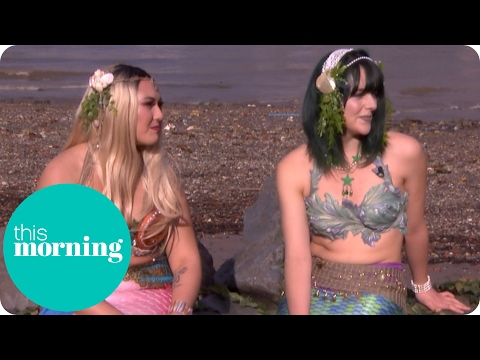 Two Real-Life Mermaids Swim Up on the South Bank | This Morning
