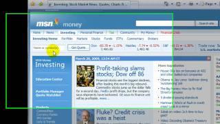 Aprendiendo como hacer una Análisis fundamental en MSN Money. Conceptos básicos del precio y del prospecto de una acción.